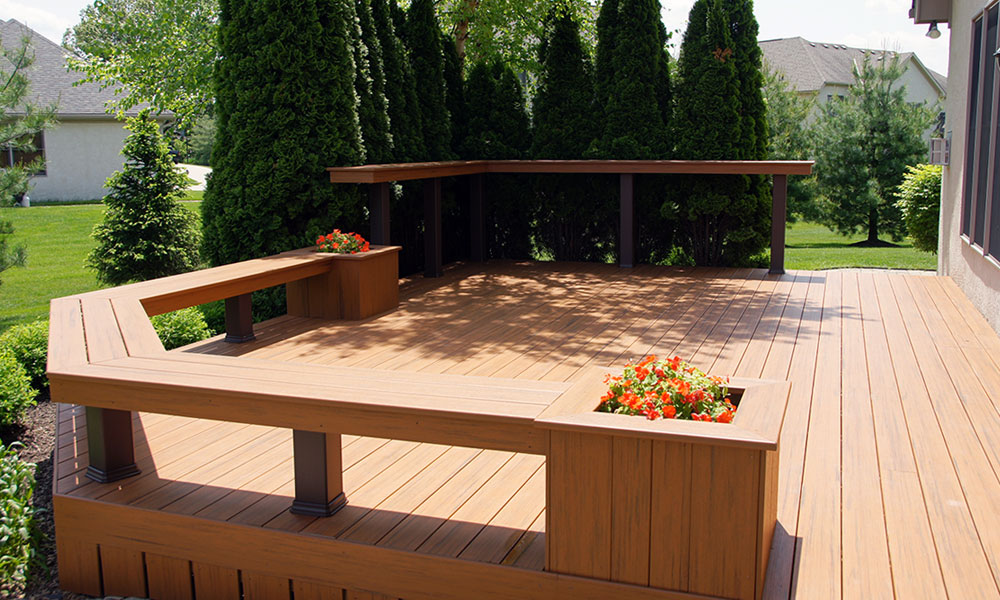 Deck build services deck masters of columbus for Building a low profile deck