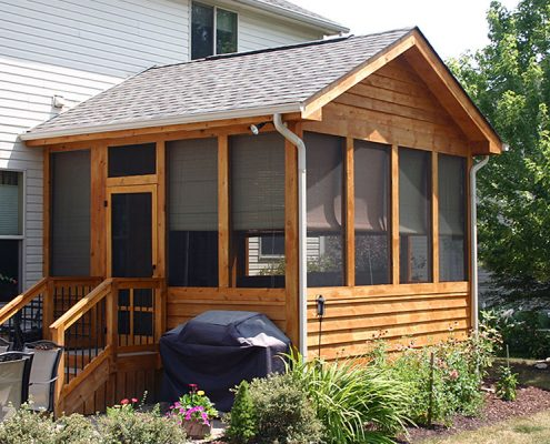Screened In Porch And Deck